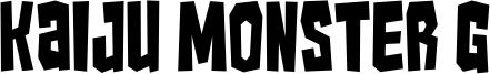 Kaiju Monster G Font