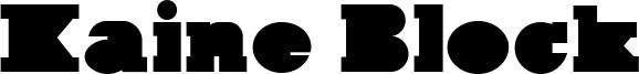 Kaine Block Font