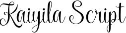 Kaiyila Script Font