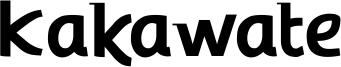 Kakawate Font