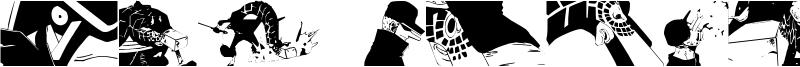 Kaku Dingbats One Piece Art One Piece Area Font