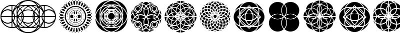 Kaleidoscopic Vision Font