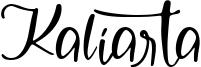Kaliarta Font