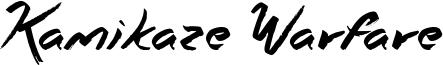 Kamikaze Warfare Font