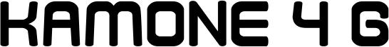 Kamone 4 G Font