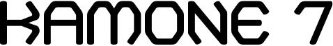 Kamone 7 Font