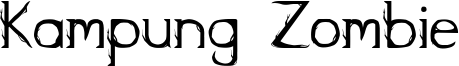 Kampung Zombie Font