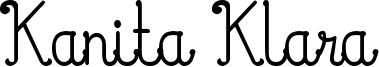 Kanita Klara Font