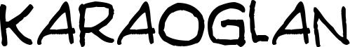 Karaoglan Font