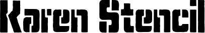 Karen Stencil Font