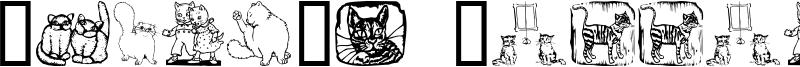 Karen's Kitties Font