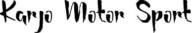 Karjo Motor Sport Font