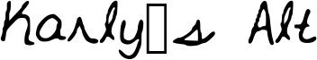 Karly's Alt Font