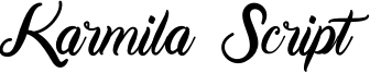 Karmila Script Font