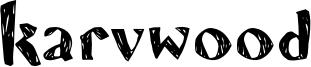 Karvwood Font