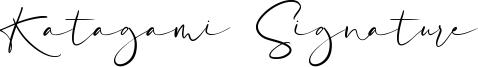 Katagami Signature Font