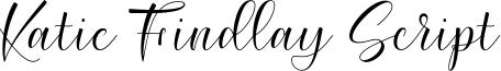 Katie Findlay Script Font