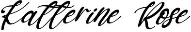 Katterine Rose Font