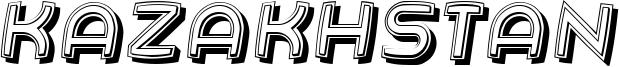Kazakhstan Font
