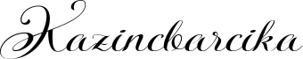 Kazincbarcika Font