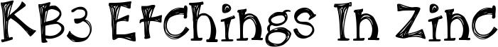 KB3 Etchings In Zinc Font