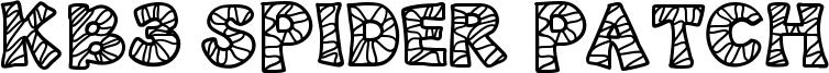 KB3 Spider Patch Font