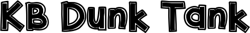 KB Dunk Tank Font