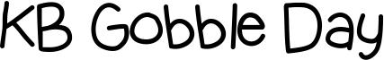 KB Gobble Day Font