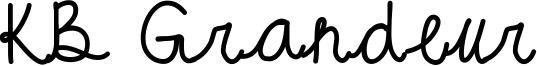 KB Grandeur Font