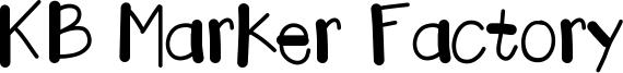 KB Marker Factory Font