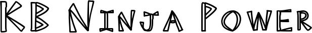KB Ninja Power Font