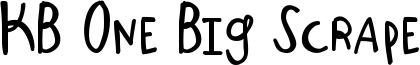 KB One Big Scrape Font