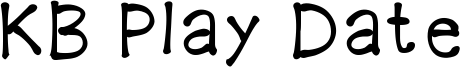 KB Play Date Font