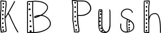 KB Push Font