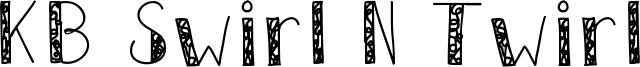 KB Swirl N Twirl Font