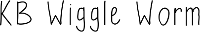 KB Wiggle Worm Font