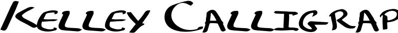 Kelley Calligraphy Font