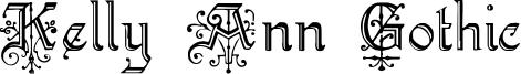 Kelly Ann Gothic Font