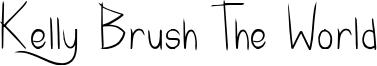 Kelly Brush The World Font