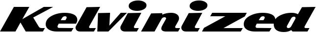 Kelvinized Font