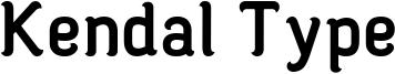Kendal Type Font