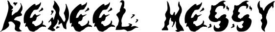 Keneel Messy Font
