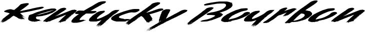 Kentucky Bourbon Font