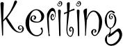 Keriting Font