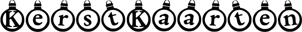 KerstKaarten Font