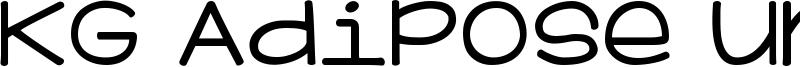 KG Adipose Unicase Font