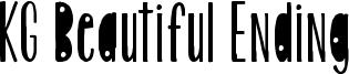KG Beautiful Ending Font