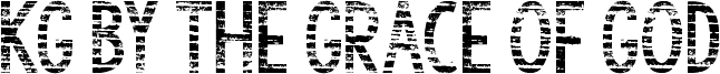 KG By the Grace of God Font
