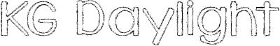 KG Daylight Font