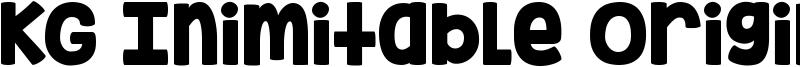 KG Inimitable Original Font
